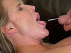 I just love to take his cum all over my face
