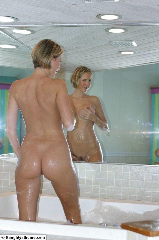 My milf take a bath
