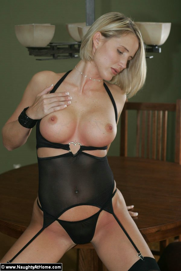 Sheer black lingerie sexy