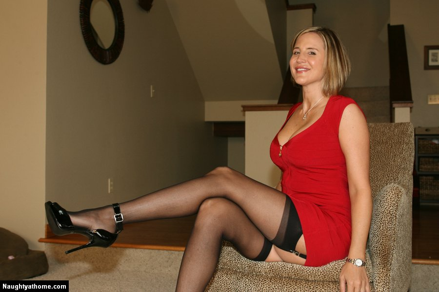 Red dress stockings sex movie