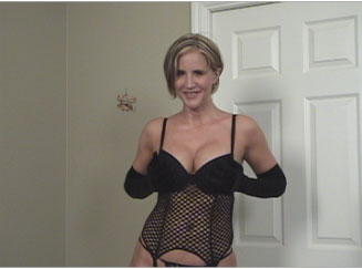 Busty Wife Wearing Black Lingerie Sucks and Fucks from Naughty At Home