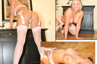 Here are some sexy pics we took before Greg came over to fuck me. I knew he liked lace lingerie, so I picked out this sexy little outfit for him. I warmed up my little pussy & started touching myself on the floor. I always get so horny when we take sexy pics like this. ...xxx Desirae